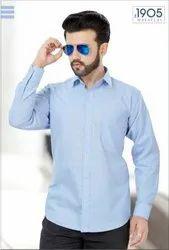 Mafatlal Premium Shirt (Blue Solid)