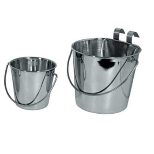 Silver Stainless Steel Flat Bucket