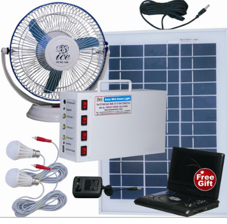 solar home light set 12 volt fan perfect power solutions. Black Bedroom Furniture Sets. Home Design Ideas