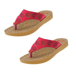 PU and Rubber Ladies Slippers, Size: 5-8