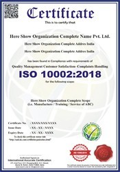ISO 10002:2018 Certification & Consultancy Service