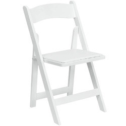 White Wedding Wooden Folding Chair