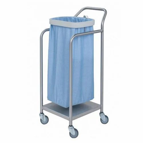 YR Stainless Steel Linen Trolley