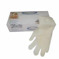 Diamond White Disposable Latex Gloves