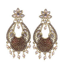 Designer Chandbali Earrings At Rs 125 Pair नकल क न क