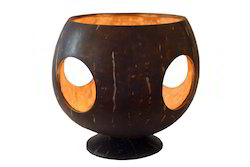 Coconut Shell Candle Holder 3 hole