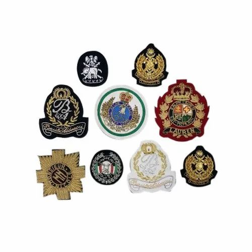 Handmade Embroidered Bullion Badges
