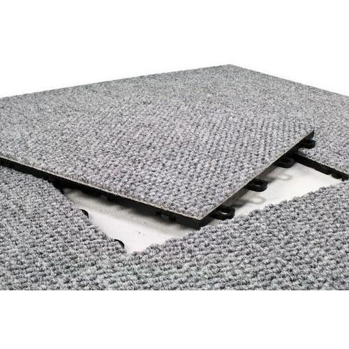 Grey Modular Interlocking Carpet Tiles, Thickness: 6 - 8 Mm, Rs 72 /square  feet | ID: 18478681597