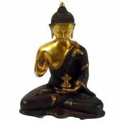 Capstona Black Brass Buddha Sitting Idols