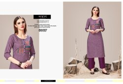 Magenta Designer Kurti with Pants