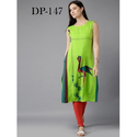 Ladies Sleeveless Crepe Kurti
