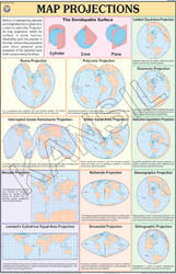 Map Projections For Practical Geography Chart