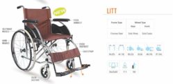 Litt Premium Steel Wheelchair