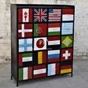 Vintage Industrial Storage Cabinets Handmade Metal Arts and Crafts