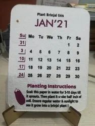 2020-2021 English Plantable Seed Paper Calendar, For Promotion
