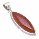 Carnelian 925 Sterling Silver Pendant