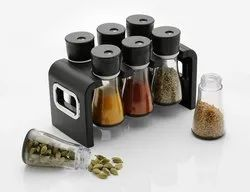 Plastic Multipurpose Stackable 6 piece Spice Rack for Kitchen