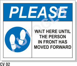 Covid19 Signage: Please Wait Here