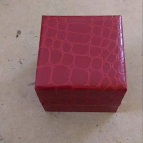 Maroon Velvet and cardboard Fancy Ring Jewelry Box