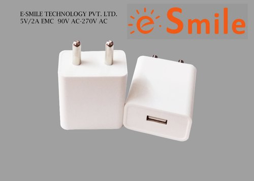 E.Smile Technology 2 Amp White BIS Certified Smart Travelling Charger