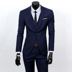 Cotton Plain Men Business Suit