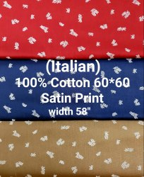 Cotton Satin Printed Shirting Fabrics(Italian)