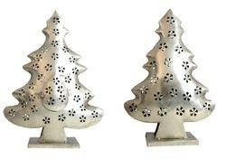 Set of 2 Iron Christmas Tree Home Decor