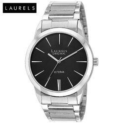 Laurels Polo Black Dial Men's Watch
