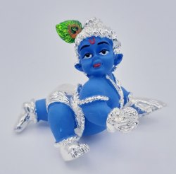 Silver Plated Ladoo Gopal