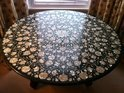 Marble Whte Mother Of Pearl Inlay Table Tops