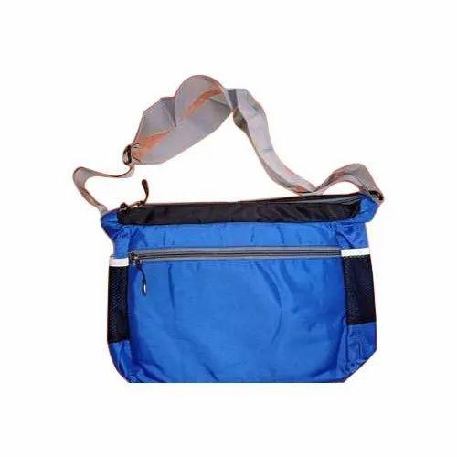 Shoulder Bag Blue Polyester Sling Bag