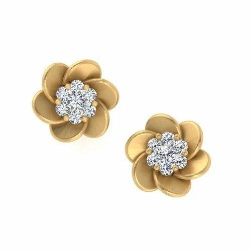 Las Diamond Stud Earrings