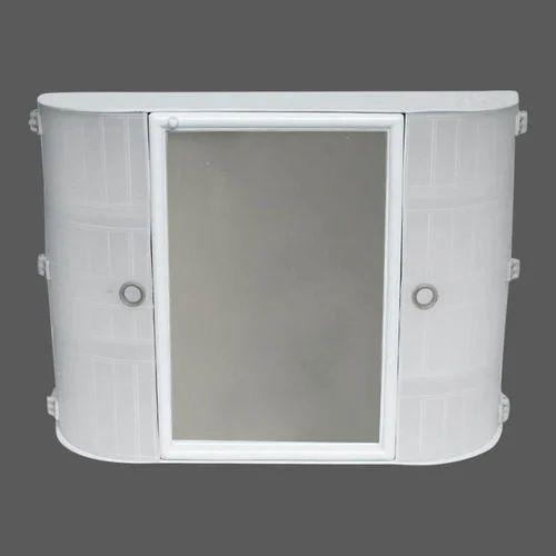 2 Shelves Plastic Bathroom Wall Cabinet, Plastic Wall Cabinets