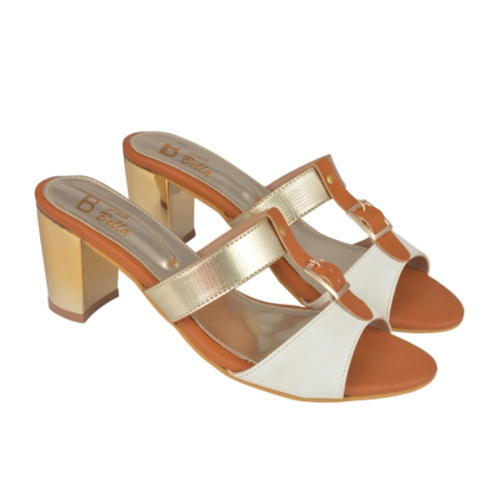 71a25de4851 WHITE And GOLD AND BROWN White And Gold Block Heels