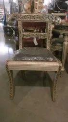 62 X 44 X 87 Cm Dinning Wooden Meenakari Chair Black 2
