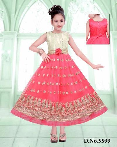 154446fd4f3ef Cotton Party Wear Baby Long Frock, Size: 20, Rs 300 /piece | ID ...
