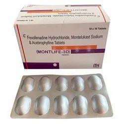 Fexofenadine Hydrochloride Montelukast Sodium and Acebrophylline Tablets
