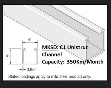 Unistrut C1 C2 & Supporting system - Strut channel Exporter from Mumbai