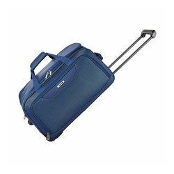 Blue Polyester Luggage Travel Trolley Bag