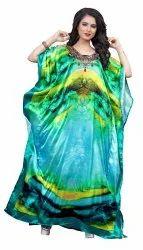 Digital Printed Satin Silk Kaftans For Women