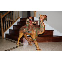 Wooden Dhola Maru Statues