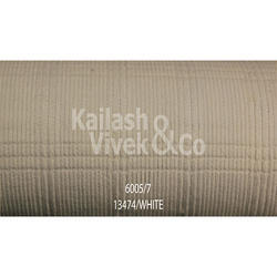Structured Corduroy White Suiting Fabric