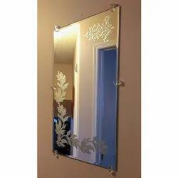 Decorative Etching Mirror Glass