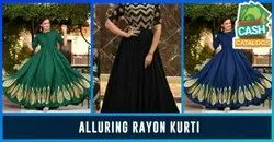 Women Ankle Length Cotton Anarkali Kurta