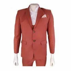 Brown Mens Party Wear Coat Pent, Size: S-XXL