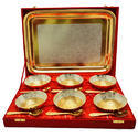 Serve Silver And Gold Plated Bowl Set