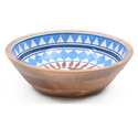 Floral Pattern Wooden Resin Soup Bowl