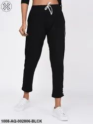 Cotton Casual Black Trousers