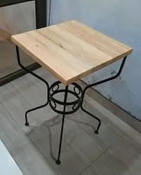 Wondercraft Wood Wrought Iron Center Table, For Hotel, Size: 18x18x30 Inches