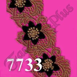 Black Designer And Indian Bridal Colorful Zari Lace